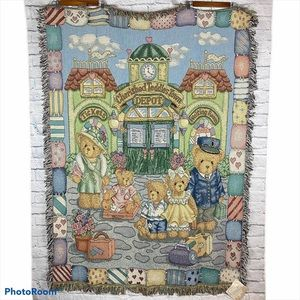 NWT Vintage Cherished Teddies Throw